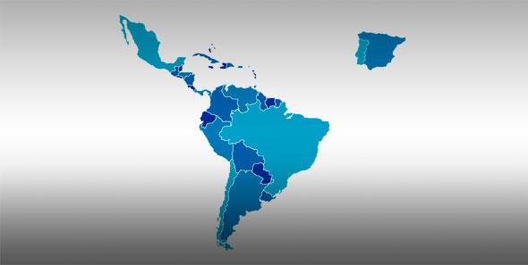 Mapa de Iberoamaérica