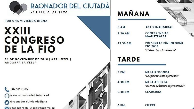 """""""El derecho a una vivienda digna"""", eje del XXIII Congreso de la FIO"""