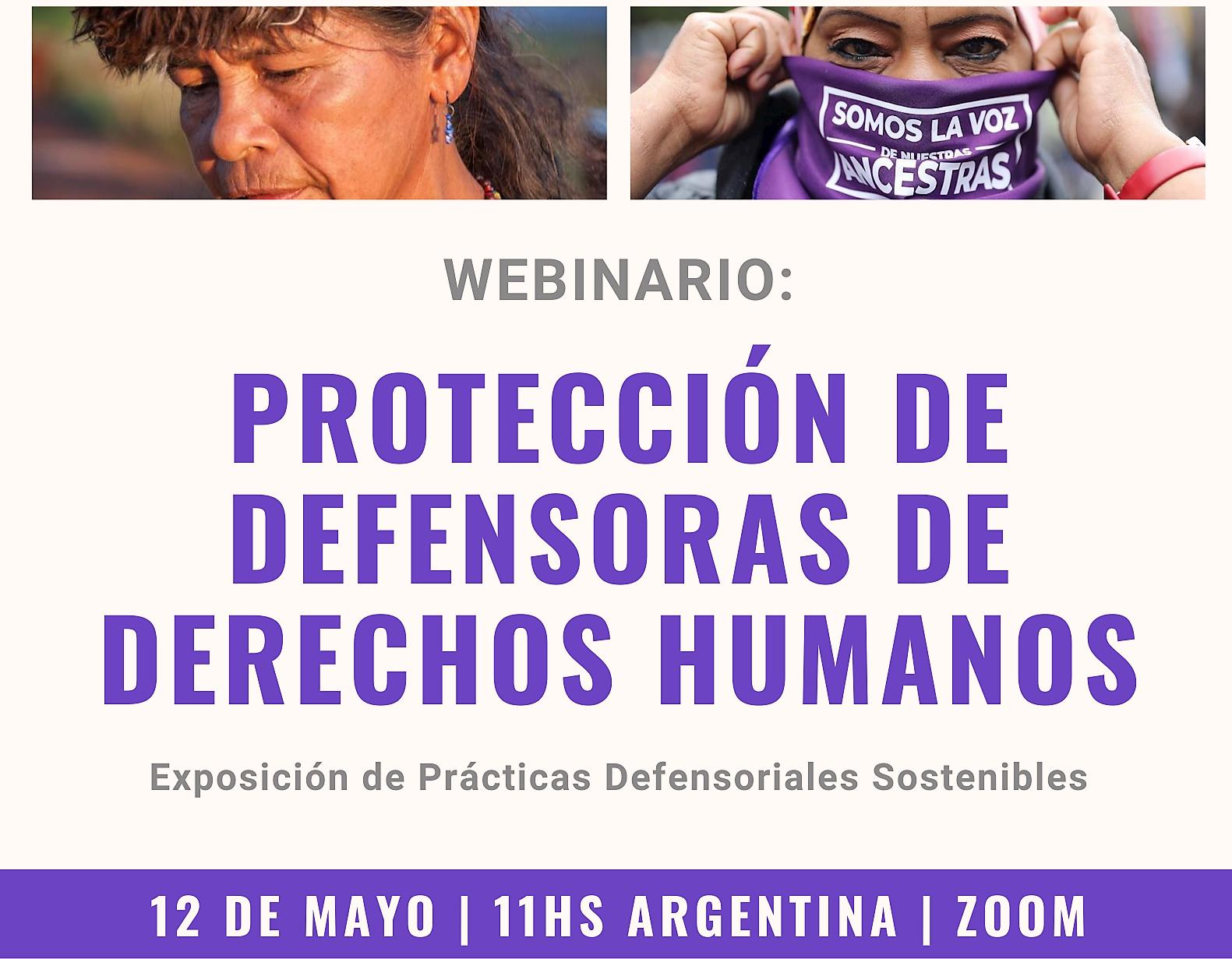 Webinar: Protección de defensoras de derechos humanos